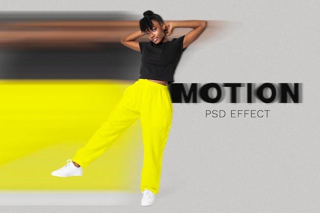 Aggiunta di photoshop di facile utilizzo con effetto psd di movimento rapido