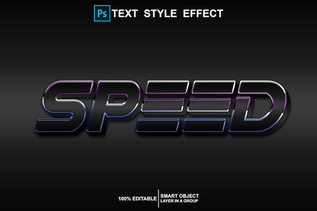 Speed text style effect template