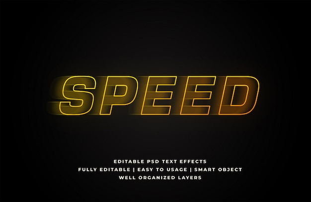 Speed text style effect