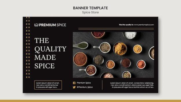 Spice store concept banner template