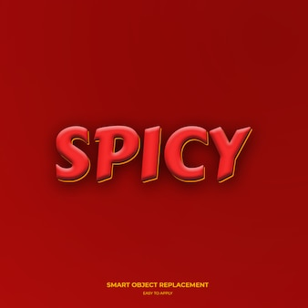 Spicy red black yellow text style effects