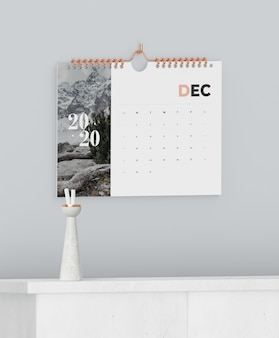Spiral book link used for calendar mock-up