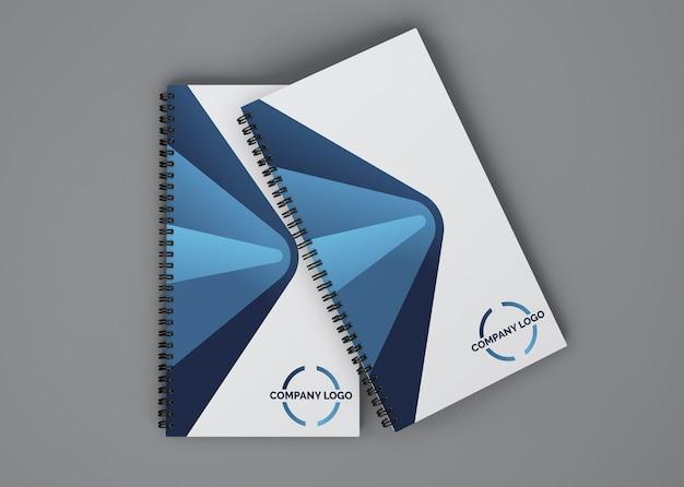 Spiral booklet mockup