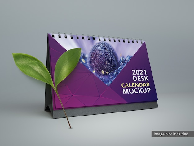 Spiral desk calendar for mockup advertising and branding