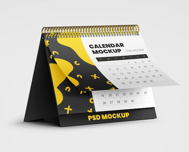 Спиральный настольный календарь макет