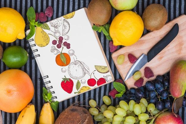 과일 나선 노트북 이랑