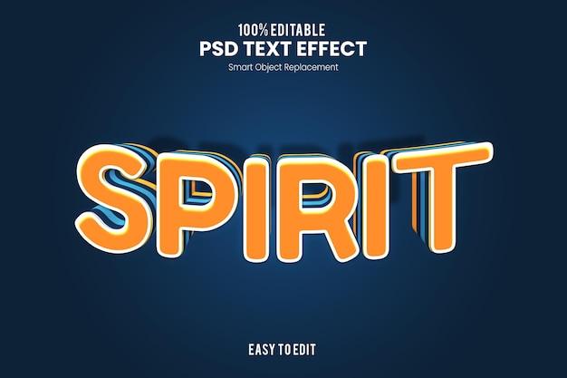Эффект spirittext