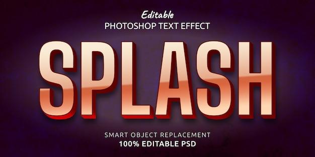 Эффект стиля редактируемого текста splash