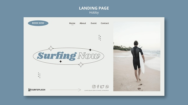 Splash and surf landing page template