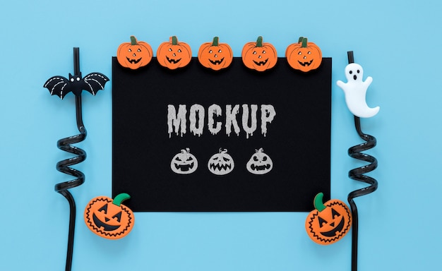 Spooky arrangement with straws mock-up
