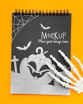 Жуткий макет концепции хэллоуина