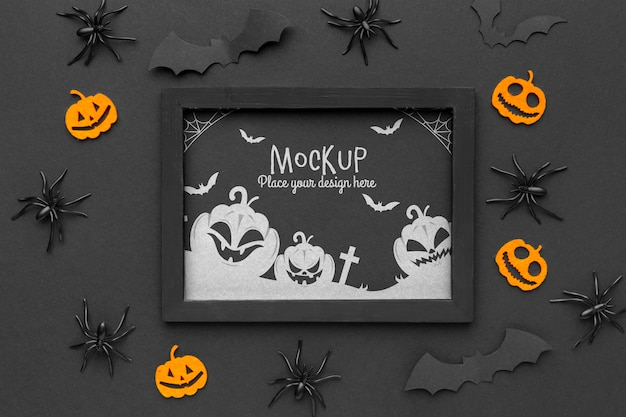Mock-up di concetto di halloween spettrale