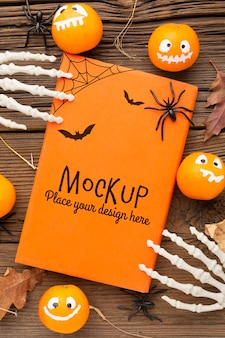 Spooky halloween concept mock-up