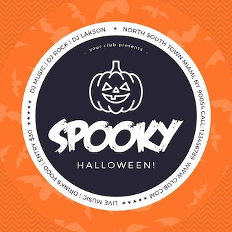 Spooky halloween facebook and instagram post template
