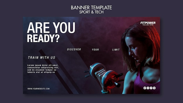 Sport activity online template
