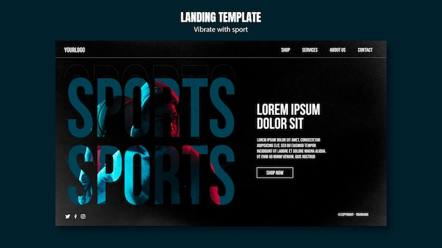 Sport ad landing page template