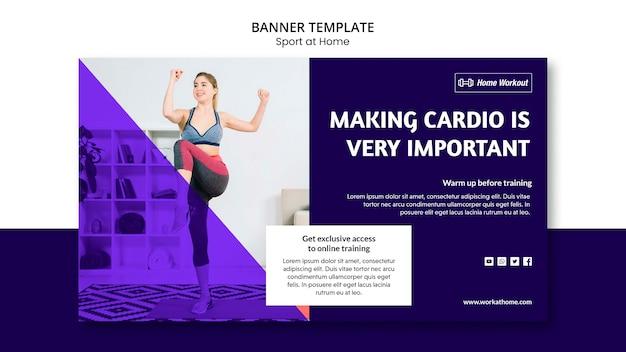 Спорт на дому дизайн баннера