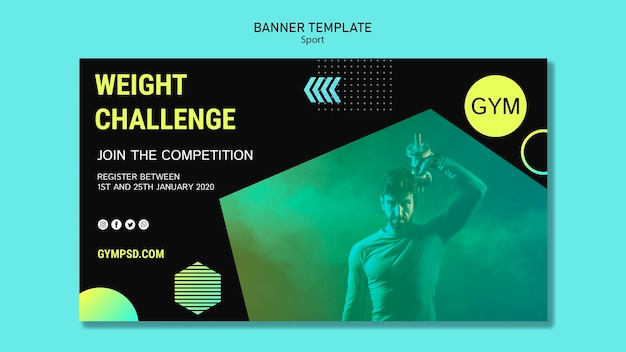 Sport banner business template