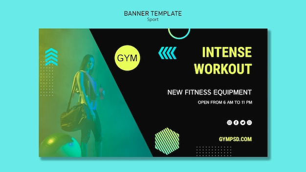 Sport banner template business