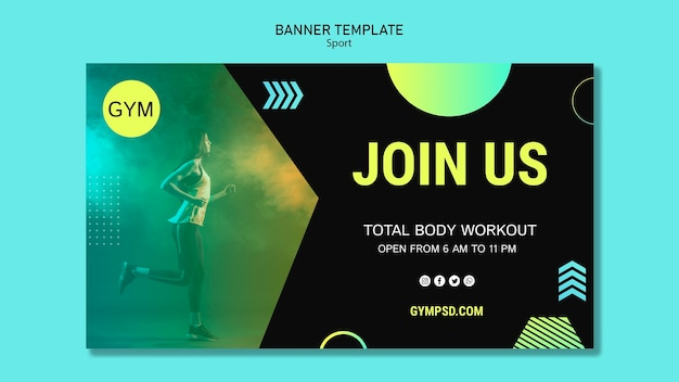 Sport business banner template