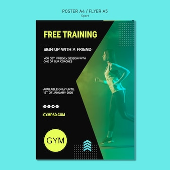 Sport business flyer template