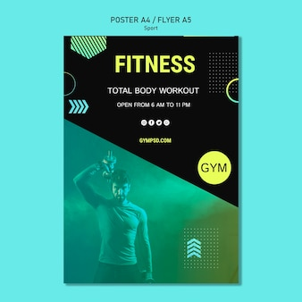 Sport business poster template