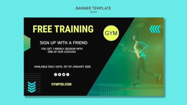 Sport business template banner