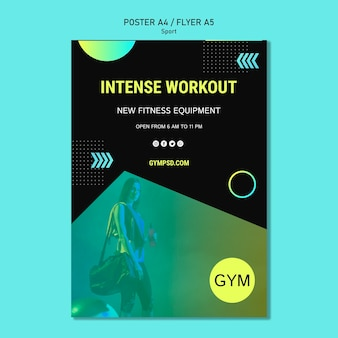 Sport business template flyer