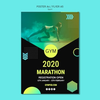Sport business template poster