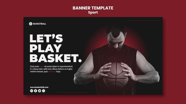 Sport concept banner template