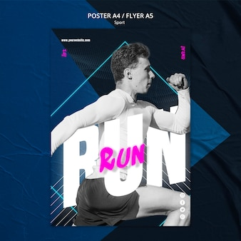 Sport concept flyer template