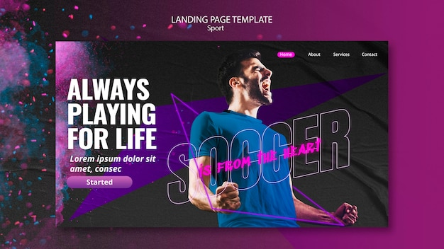 Sport concept landing page style