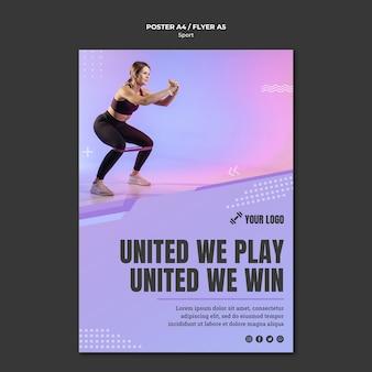 Stile poster sportivo concetto