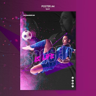Sport concept poster template
