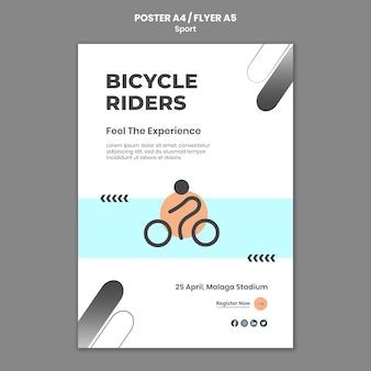 Шаблон плаката спортивной концепции