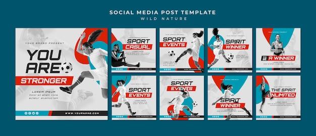 Sport concept social media post
