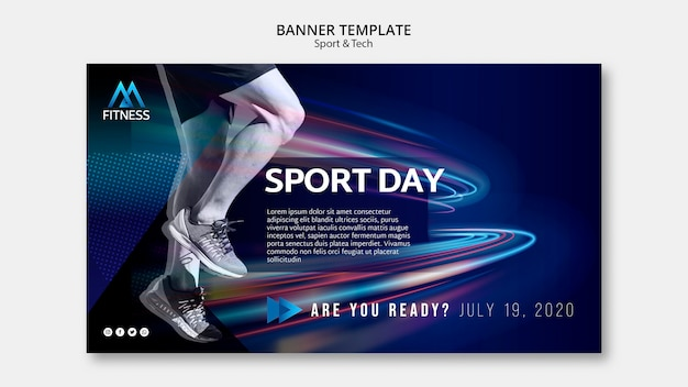 Sport day banner template