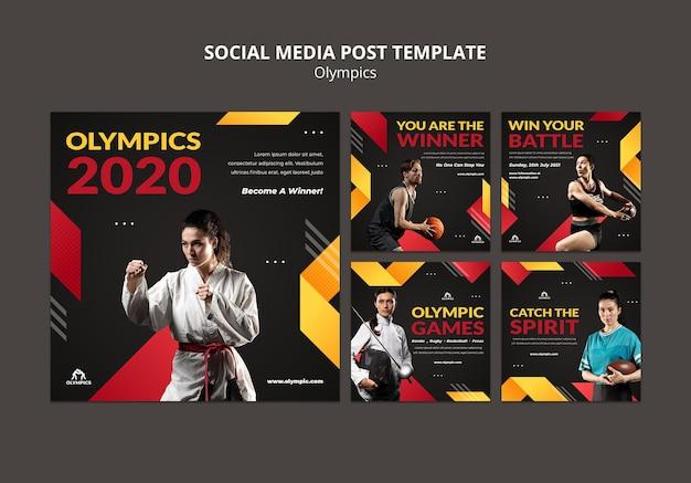 Post sui social media di giochi sportivi