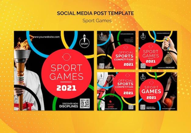 Сообщения об олимпийских играх в социальных сетях Бесплатные Psd
