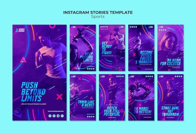 Modello di storie di sport instagram