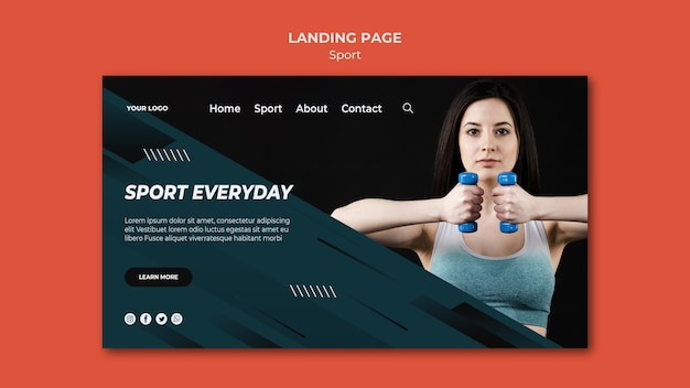 Sport lading page template