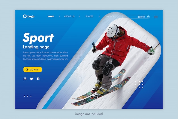 Sport landing page website template