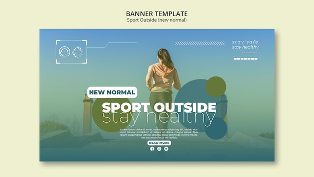 Sport outside banners concept