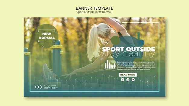 Sport outside banners template