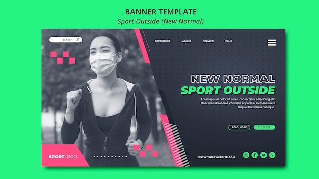 Sport outside concept banner design