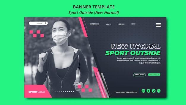 Спорт вне концепции дизайна баннера