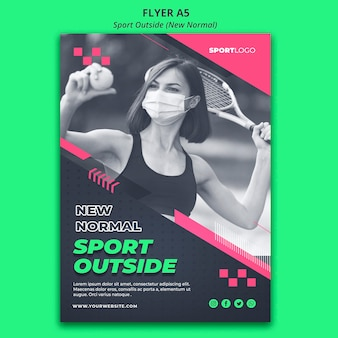 Sport outside concept flyer style