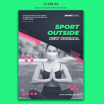 Sport outside concept flyer template