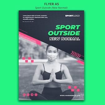 Sport al di fuori del modello di volantino concetto