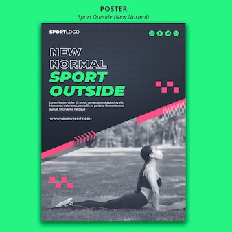Sport outside concept poster design